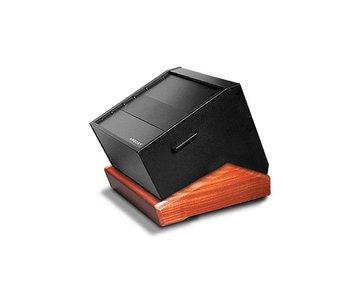 Argosy Rack 'n Roll H10 met 10 HE rackruimte zwart/mahonie