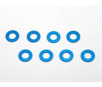Yokomo Aluminium Shim φ3.0mm x φ6.0mm x 0.5mm - Blue (8pcs)