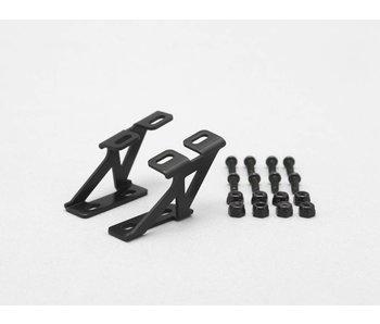 Yokomo Aluminium Wing Stay Low Version - Black (1set)