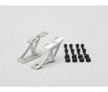 Yokomo Aluminium Wing Stay Low Version - Silver (1set)