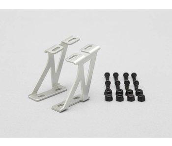 Yokomo Aluminium Wing Stay Middle Version - Silver (1set)