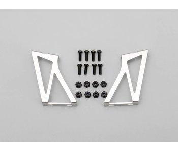 Yokomo Aluminium Wing Stay High Version - Silver (1set)