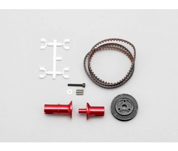 Yokomo FCD Gear x1.5 Solid Axle Set for Rear - Red