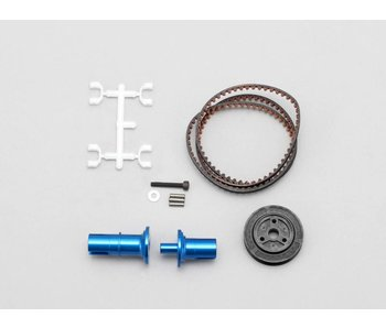 Yokomo FCD Gear x1.5 Solid Axle Set for Rear - Blue