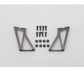 Yokomo Aluminium Wing Stay High Version - Black (1set)