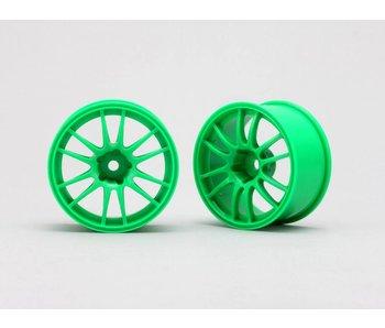 Yokomo Drift Wheel Enkei Racing GTC01 - Green 4mm Offset (2pcs)