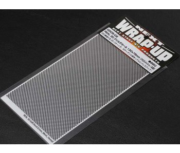 WRAP-UP Next REAL 3D Gril Decal Cross Mesh Thick 130mm x 75mm Transparant Base