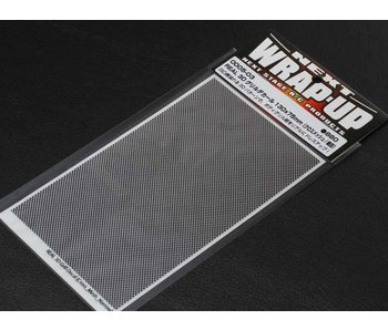 WRAP-UP Next REAL 3D Gril Decal Cross Mesh Thin 130mm x 75mm Transparant Base