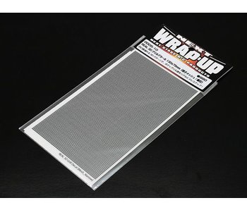 WRAP-UP Next REAL 3D Gril Decal Grid Mesh Thin 130mm x 75mm Transparant Base