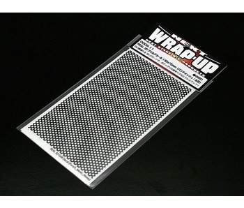 WRAP-UP Next REAL 3D Gril Decal Punch Mesh Thick 130mm x 75mm Transparant Base