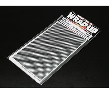 WRAP-UP Next REAL 3D Gril Decal Punch Mesh Thin 130mm x 75mm Transparant Base