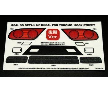 WRAP-UP Next REAL 3D Detail Up Decal Set for Yokomo 180SX Street Kouki (Late Version)