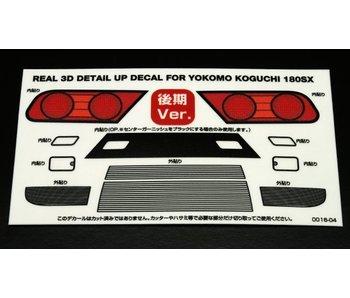 WRAP-UP Next REAL 3D Detail Up Decal Set for Yokomo 180SX Koguchi Kouki (Late Version)