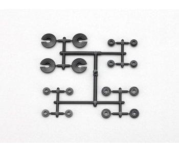 Yokomo Spring Cup / Piston / O-ring collar Set for Plastic Shock