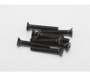 Yokomo Steel Hex Screw Flat Head M3 × 20mm (8pcs)