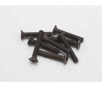 Yokomo Steel Hex Screw Flat Head M3 × 18mm (8pcs)