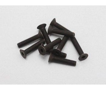 Yokomo Steel Hex Screw Flat Head M3 × 15mm (10pcs)