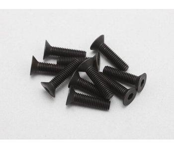 Yokomo Steel Hex Screw Flat Head M3 × 12mm (10pcs)