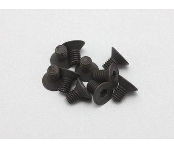 Yokomo Steel Hex Screw Flat Head M3 × 5mm (10pcs)