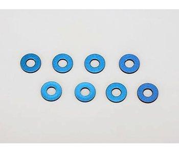 Yokomo Aluminium Suspension Mount Spacer 1mm  - Blue (8pcs)