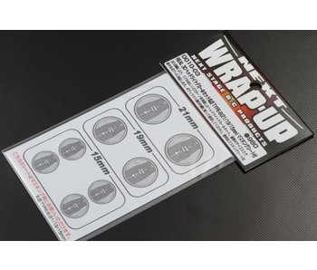 WRAP-UP Next REAL 3D Head Light Decal Circle Type-B (15/19/21mm) with Mask Sheet