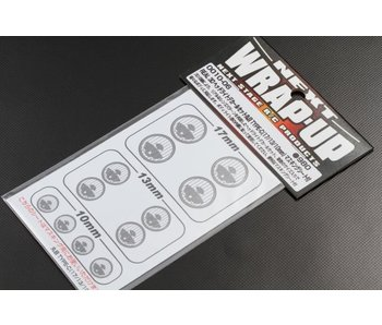 WRAP-UP Next REAL 3D Head Light Decal Circle Type-C (10/13/17mm) with Mask Sheet