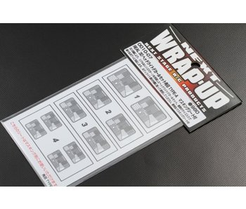 WRAP-UP Next REAL 3D Head Light Decal Square Type-A (15/19/21mm) with Mask Sheet