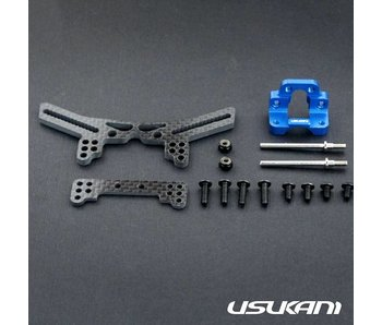 Usukani Stuctural Front Suspension System for Yokomo DPR - Yok Blue