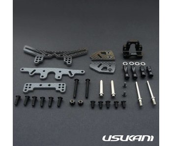 Usukani Stuctural Front Suspension System for Yokomo SD Plastic - Black