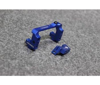 Usukani Aluminium Adjustable Servo Holder - Yok Blue