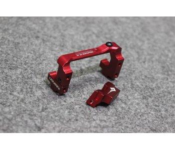 Usukani Aluminium Adjustable Servo Holder - Red