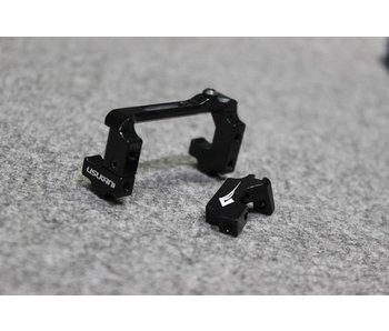 Usukani Aluminium Adjustable Servo Holder - Black