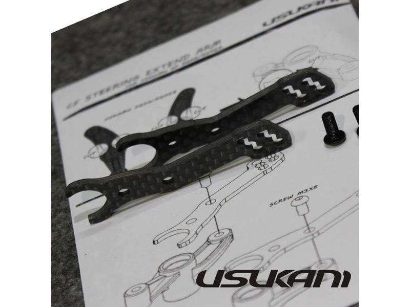 Usukani US88097 - Carbon Steering Arm Extensions for Yokomo SD / SD-202