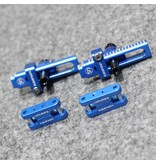 Usukani US8009-YB - Aluminium Adjustable Bracket for Invisible Body Mount with Magnet - Yok Blue  (2pcs)