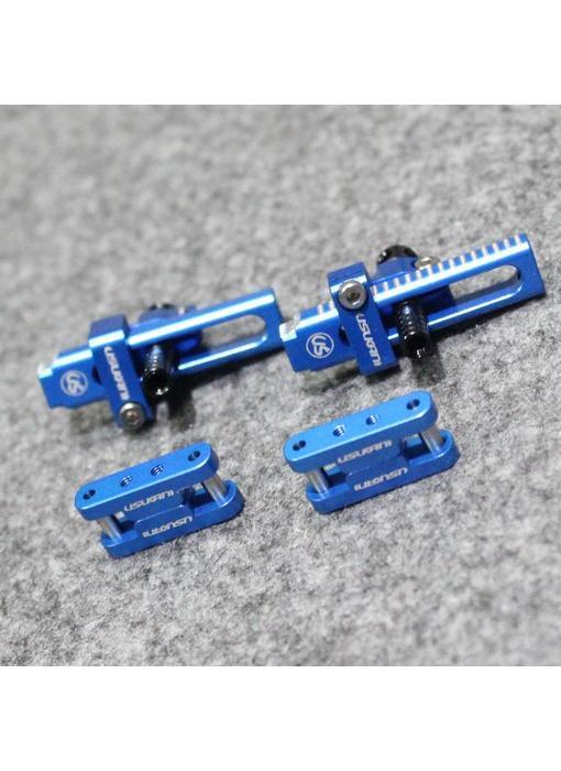 Usukani Aluminium Adjustable Bracket for Invisible Body Mount with Magnet - Yok Blue  (2pcs)
