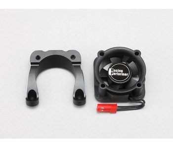 Yokomo Aluminium Rear Brace with Cooling Fan - Black Edge Design
