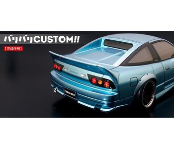 ABC Hobby 3-pc Rear Wide Wing for Nissan 180SX (66137)