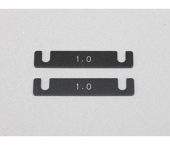 Yokomo Aluminum Suspension Mount Spacer 1.0mm (2pcs)