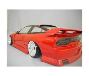 Addiction RC Nissan 180SX Addiction Aero Parts Body Kit - Rear & Roof Spoiler