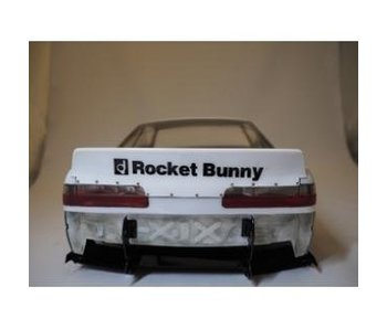 Addiction RC Nissan Silvia S13 Rocket Bunny Body Kit V2 - Duck-Tail Wing