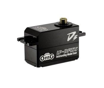 RC OMG D3 Brushless Digital Servo 15kg Full Metal Low Profile - Full Black