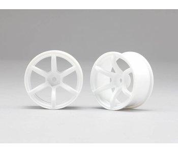 Yokomo RP 6 Spoke 02 Drift Wheel - White (2pcs)