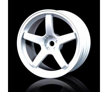 MST 5 Spokes Wheel (4) / White