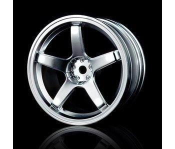 MST 5 Spokes Wheel (4) / Flat Silver