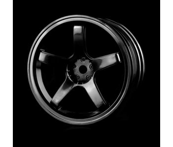 MST 5 Spokes Wheel (4) / Black