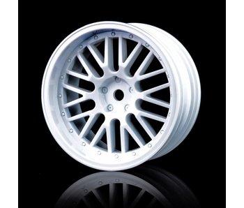 MST 10 Spokes 2 Ribs Wheel (4) / White