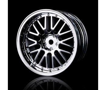 MST 10 Spokes 2 Ribs Wheel (4) / Silver