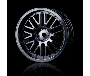 MST 10 Spokes 2 Ribs Wheel (4) / Black