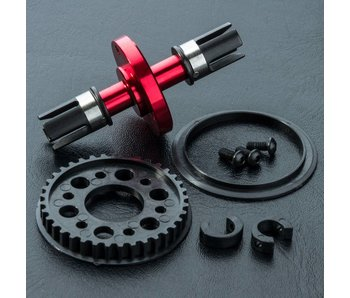 MST RMX Alum. Solid Axle Set / Red