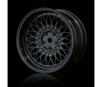 MST 501 Wheel Set - Adj. Offset (4) / Black-Black
